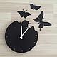 """Часы для дома ручной работы. Часы 29см из металла """"Liblikas"""". KODUMAJA (Ирина, работы из металла). Интернет-магазин Ярмарка Мастеров."""