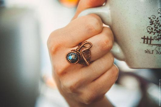Кольца ручной работы. Ярмарка Мастеров - ручная работа. Купить Кольцо «Медуза». Handmade. Рыжий, медуза, медная проволока
