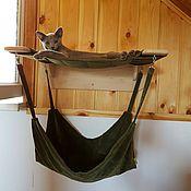 Для домашних животных, ручной работы. Ярмарка Мастеров - ручная работа Домик для кошек настенный. Handmade.