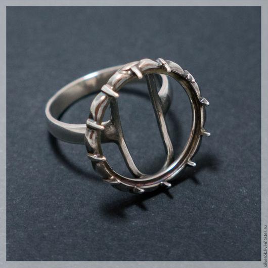 Для украшений ручной работы. Ярмарка Мастеров - ручная работа. Купить Основа для кольца под каст #2 серебро 925 проба. Handmade.