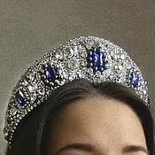 Украшения handmade. Livemaster - original item Sapphire diadem of Maria Pavlovna. Handmade.