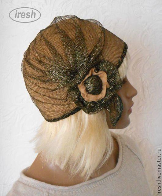 """Шапки ручной работы. Ярмарка Мастеров - ручная работа. Купить Валяная шляпка """"Ретро"""" коричневая женская. Handmade. Коричневый"""