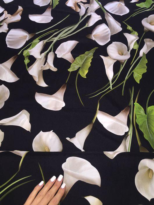 Шитье ручной работы. Ярмарка Мастеров - ручная работа. Купить Шёлк Dolce Gabbana осень/зима 2016/17 D. Handmade. Ткань