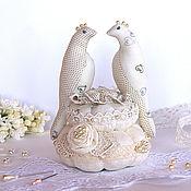Interior elements handmade. Livemaster - original item Birds. Interior decoration, for wedding rings, needle box. Handmade.