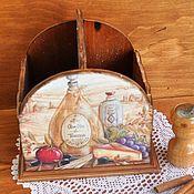 """Для дома и интерьера ручной работы. Ярмарка Мастеров - ручная работа Короб для специй """"Сuisine"""". Handmade."""