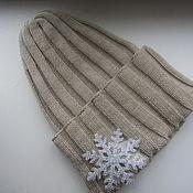 Кашемировая шапка-носок
