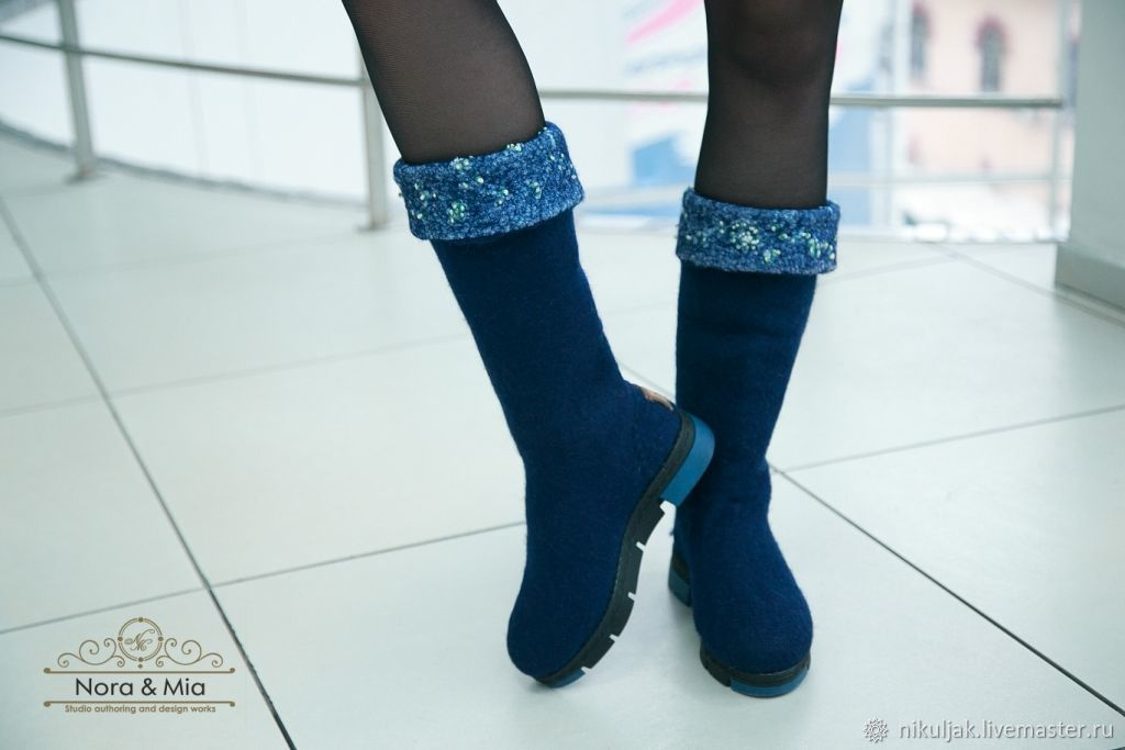Boots, felted Winter patterns, High Boots, Dnepropetrovsk,  Фото №1