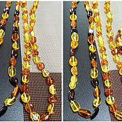 Работы для детей, handmade. Livemaster - original item Amber beads, amber Bracelet, Long amber olives beads. Handmade.
