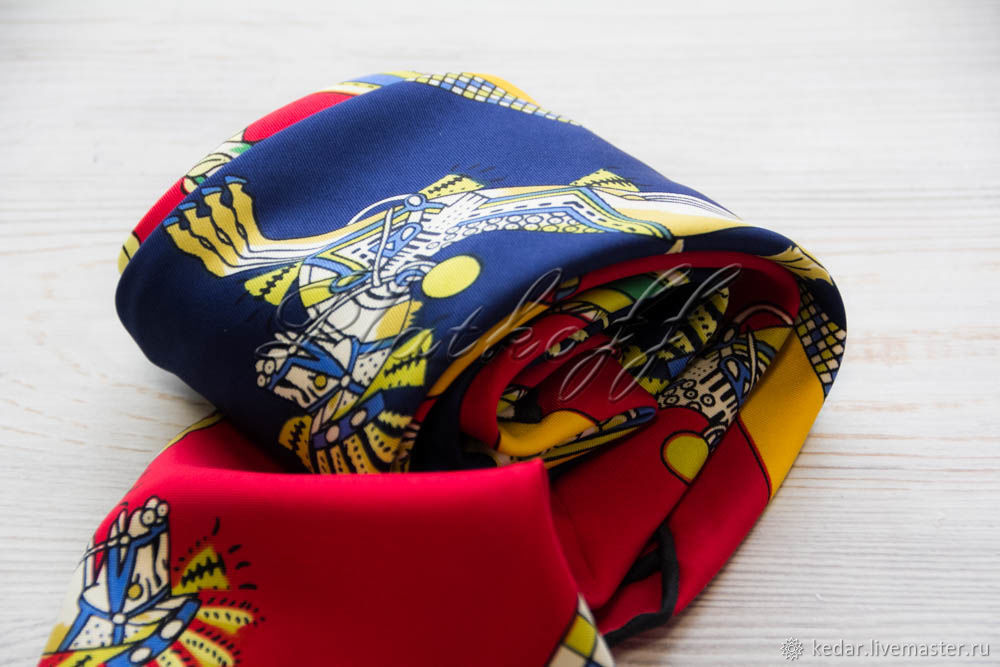 Silk neckerchief made of Hermes fabric, Shawls1, Moscow,  Фото №1