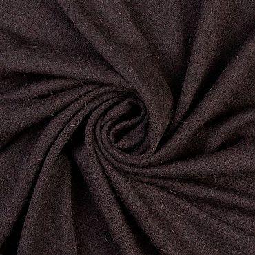 Materials for creativity handmade. Livemaster - original item Fabric: Italian knitted fabric, color dark brown, cut 1,1 m. Handmade.