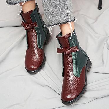 Обувь ручной работы. Ярмарка Мастеров - ручная работа Ботинки с бантами ANNA CHAQRUA. Handmade.
