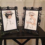 """Для дома и интерьера ручной работы. Ярмарка Мастеров - ручная работа Вышивка крестом """"Прекрасные дамы"""". Handmade."""