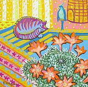 """Картины и панно ручной работы. Ярмарка Мастеров - ручная работа Картина маслом """"Уютный дом"""". Handmade."""