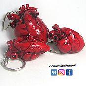 Аксессуары ручной работы. Ярмарка Мастеров - ручная работа Брелок для ключей  Анатомическое сердце из полимерной глины. Handmade.