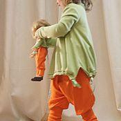 Работы для детей, ручной работы. Ярмарка Мастеров - ручная работа Оранжевые шаровары. Handmade.