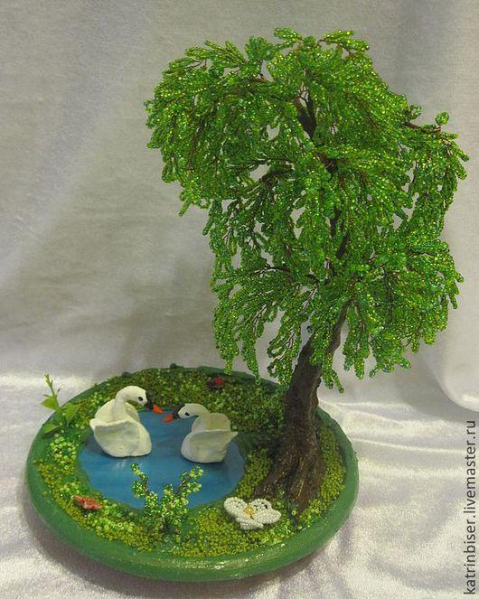 Дерево из бисера ива