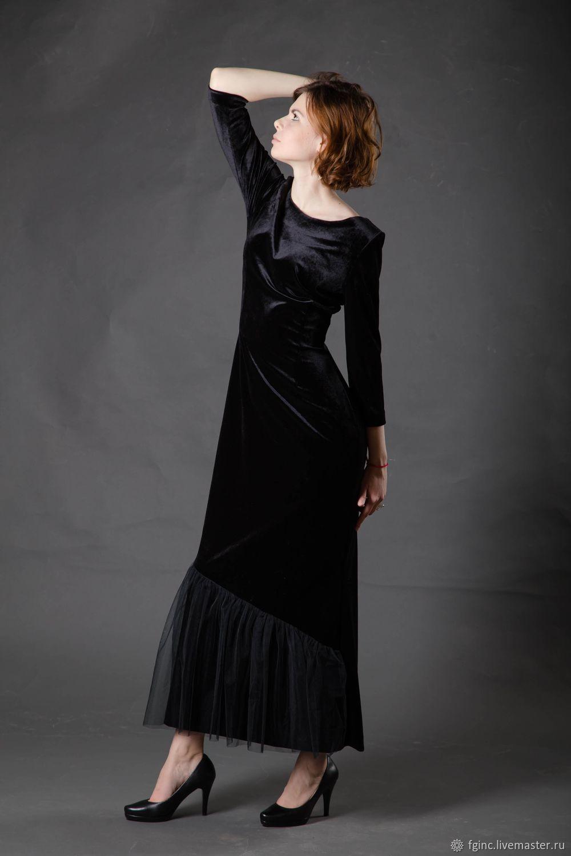 Платье для особых случаев.Бархатное длинное платье, Платья, Санкт-Петербург,  Фото №1