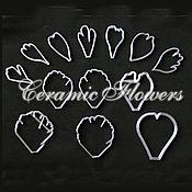 Материалы для творчества handmade. Livemaster - original item Large set of peony petal cutters, plastic. Handmade.