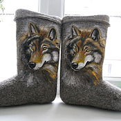 """Обувь ручной работы. Ярмарка Мастеров - ручная работа Валенки """"Волки"""". Handmade."""