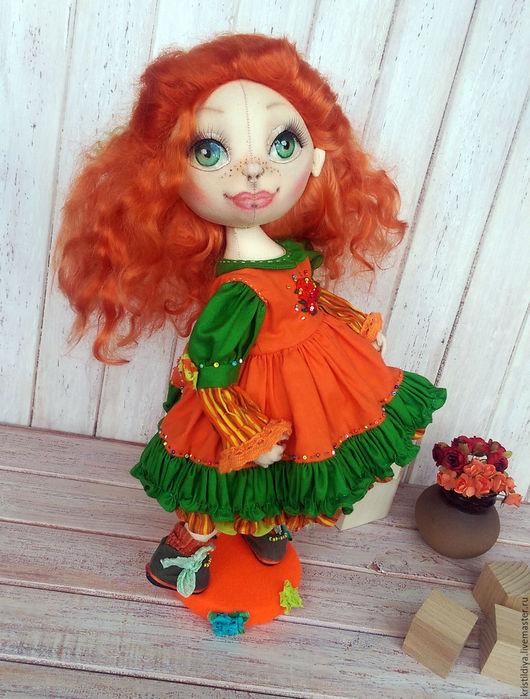 Кукла интерьерная купить. Рыжая кукла. Art doll.