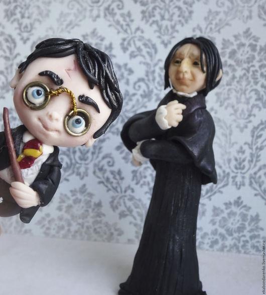 Магниты ручной работы. Ярмарка Мастеров - ручная работа. Купить Фигурка Гарри Поттер персонаж. Handmade. Черный, персонаж, прикол