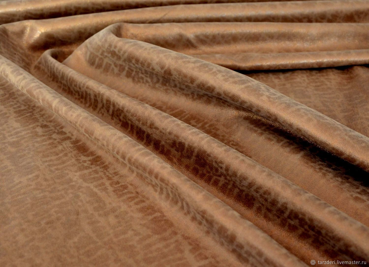 Natural suede Bronze with 0,75 mm coating, Leather, Ankara,  Фото №1