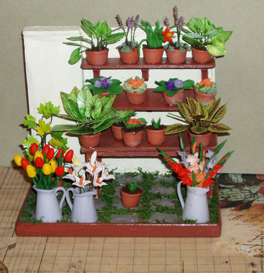 Кукольный дом ручной работы. Ярмарка Мастеров - ручная работа. Купить цветочная лавка. Handmade. Кукольный дом, миниатюра