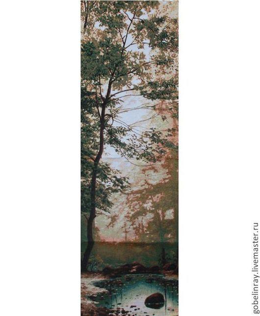 Шитье ручной работы. Ярмарка Мастеров - ручная работа. Купить Изумрудный лес: гобеленовая заготовка без оверлока, 110-35 см. Handmade.