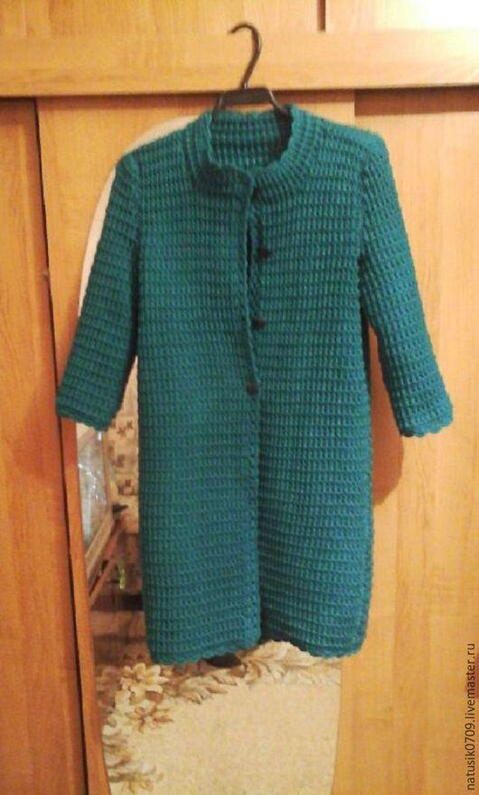 Пиджаки, жакеты ручной работы. Ярмарка Мастеров - ручная работа. Купить кардиган  изумруд. Handmade. Тёмно-зелёный, кардиган крючком