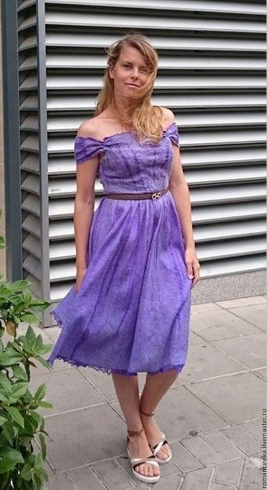 """Платья ручной работы. Ярмарка Мастеров - ручная работа. Купить платье """"Soulful lilac"""", нунофелтинг. Handmade. Авторская ручная работа"""