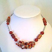 Украшения handmade. Livemaster - original item necklace carnelian. Handmade.
