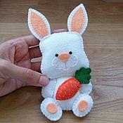 """Куклы и игрушки ручной работы. Ярмарка Мастеров - ручная работа """"Зайчик"""" игрушка из фетра. Handmade."""