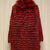 Одежда handmade. Livemaster - original item Black Fox coat