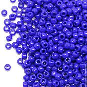 Материалы для творчества ручной работы. Ярмарка Мастеров - ручная работа Бисер ТОХО круглый 11/0 синий непрозрачный, TOHO Beads 10гр. Handmade.