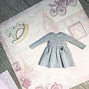 Куклы и игрушки ручной работы. Ярмарка Мастеров - ручная работа Трикотажное платье для Блайз. Handmade.