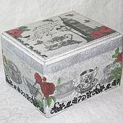 """Для дома и интерьера ручной работы. Ярмарка Мастеров - ручная работа Чайная коробка """"Английский чай"""". Handmade."""
