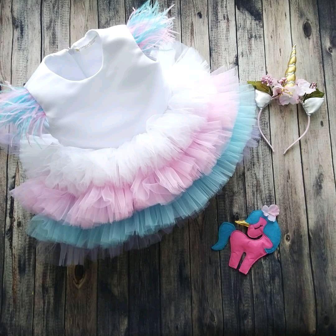 """Платье для девочки """"Весёлая Единорожка"""""""