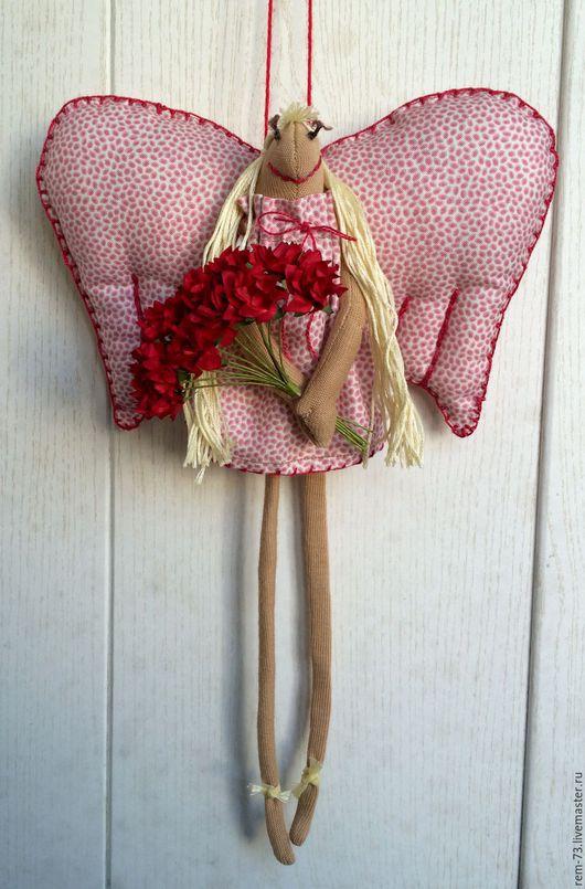 Человечки ручной работы. Ярмарка Мастеров - ручная работа. Купить валентинка. Handmade. Комбинированный, ангелочек, ангел-хранитель, текстильная игрушка