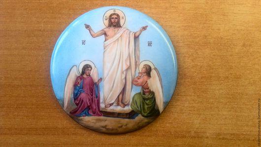 Иконы ручной работы. Ярмарка Мастеров - ручная работа. Купить финифть вставка Воскресение Христово. Handmade. Комбинированный, финифть
