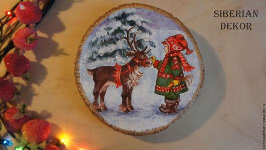 Картина на спиле. диаметр -  11 см  цена 1000 р
