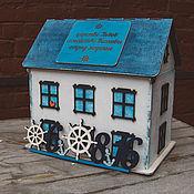 Свадебный салон ручной работы. Ярмарка Мастеров - ручная работа Подарочный свадебный домик-короб для конвертов. Handmade.