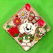 Сувениры и подарки ручной работы. Ярмарка Мастеров - ручная работа Пряники 8 Марта. Мишка с тюльпанами Подарки на 8 марта Подарок женщине. Handmade.