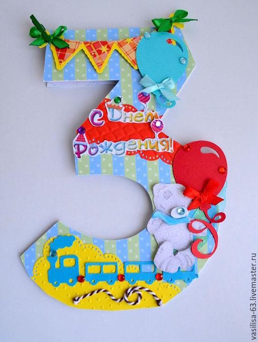 Детские открытки ручной работы. Ярмарка Мастеров - ручная работа. Купить Открытка на три года сыночку. Handmade. открытка новорожденному
