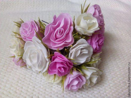 Свадебные украшения ручной работы. Ярмарка Мастеров - ручная работа. Купить Цветочные шпильки. Handmade. Комбинированный, цветы