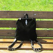 Сумки и аксессуары handmade. Livemaster - original item Youth backpack genuine leather and suede JUNO. Handmade.