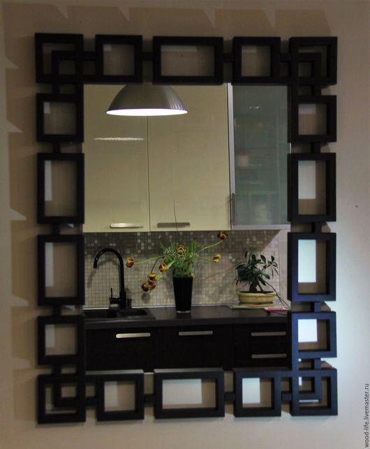 """Зеркала ручной работы. Ярмарка Мастеров - ручная работа. Купить Зеркало """"КУБ"""". Handmade. Черный, зеркало в раме"""