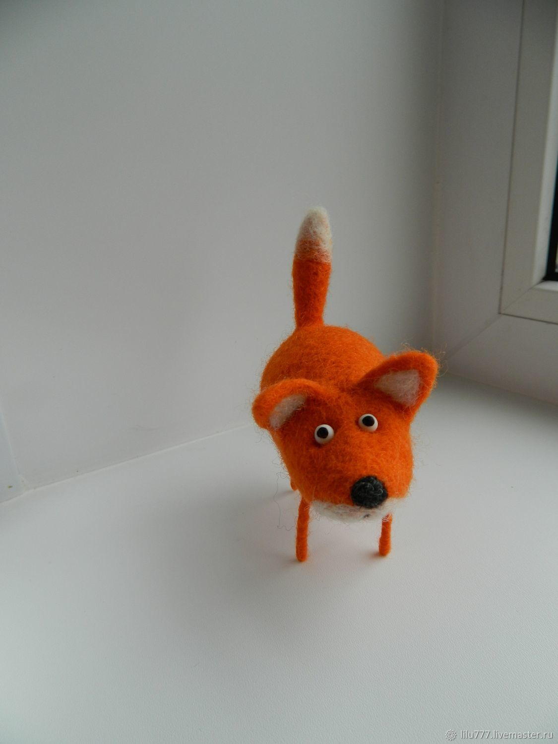 Animal Toys handmade. Livemaster - handmade. Buy The felted Fox.Fox, fox red