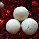 Новый год 2017 ручной работы. Ярмарка Мастеров - ручная работа. Купить Снежки. Handmade. Белый, новогодние игрушки, новогодний сувенир