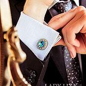 Украшения handmade. Livemaster - original item Cufflinks for men Oscar. Cufflinks with blue stone. Men`s cufflinks. Handmade.