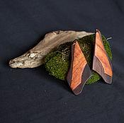 Украшения ручной работы. Ярмарка Мастеров - ручная работа Серьги из двух пород дерева. Handmade.